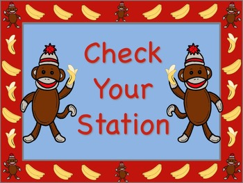 Sock Monkey Themed Station/Center Signs - Great for Classroom Management!!!