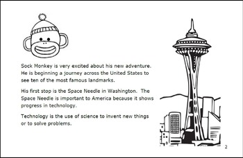 Sock Monkey Travels...USA Landmarks
