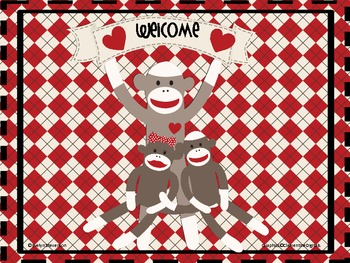 Sock Monkey Welcome Sign