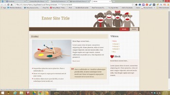 Sock Monkey Wordpress Blog Theme