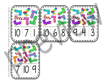 Sock Number Clip Cards