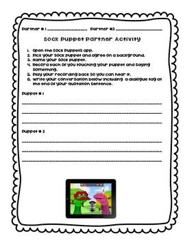 Sock Puppet Quotation Activity FREEBIE