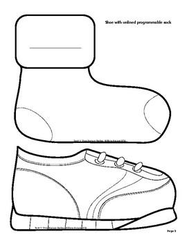 Sock & Shoe Memory Review - Bulletin Board Pack