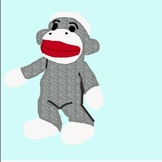 Sock monkey calendar numbers