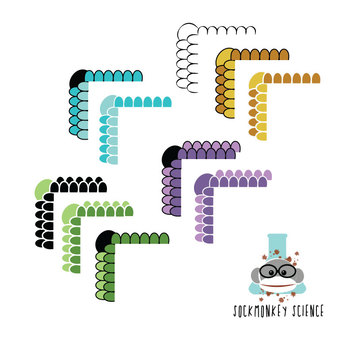 Sockmonkey Science Borders Pack - 10 Reptile Scale Frames