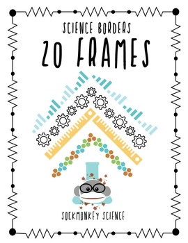Sockmonkey Science Borders Pack - 20 Simple & Modern Frames