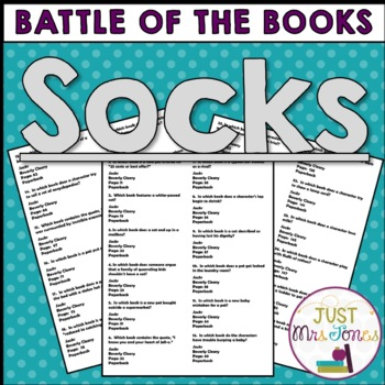 Socks Battle of the Books Trivia Questions