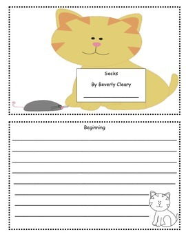 Socks By Beverly Cleary Comprehension, Vocabulary and Writing Activities
