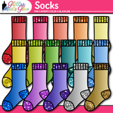 Socks Clip Art | Rainbow Glitter Clothing for Digital Resources & Scrapbooking