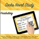 Google Classroom™ Socks Novel Study Digital Self-Checking
