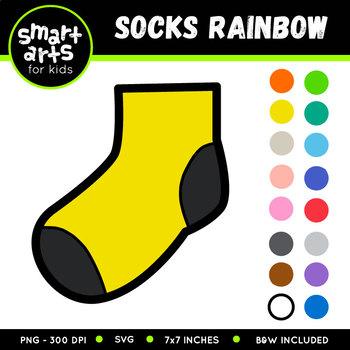 Socks Rainbow Clip Art