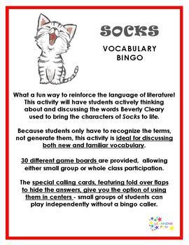 Socks Vocabulary Bingo