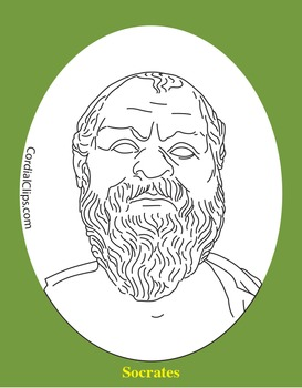 Socrates Clip Art, Coloring Page, or Mini-Poster