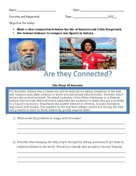Socrates & Colin Kaepernick Comparison