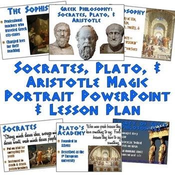 Socrates, Plato, & Aristotle PowerPoint with Magic Portrai