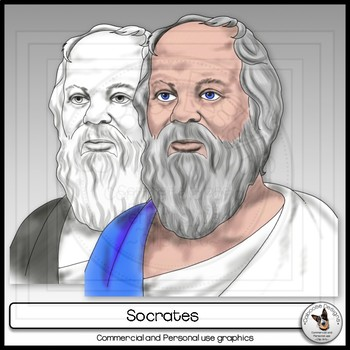 Socrates Realistic Clip Art Portrait