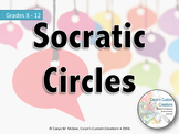 Socratic Circle Lesson, Self & Peer Evaluation, Question Chart, and Rubric