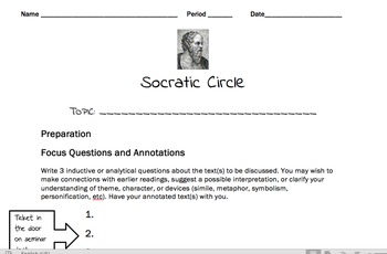 Socratic Circles/Seminars for Secondary Classrooms (6-12)