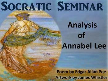 """Socratic Seminar & Activities: Poem Analysis """"Annabel Lee"""" by Edgar Allan Poe"""