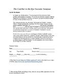 Socratic Seminar - Assess and Diagnose Holden Caulfield