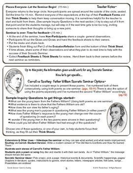 """Socratic Seminar: Carroll vs Southey """"Father William"""""""