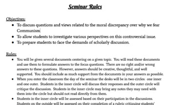 Socratic Seminar: Communism then AND Now