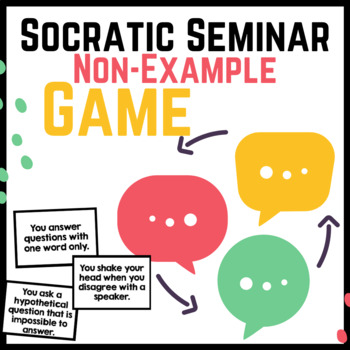 Socratic Seminar Practice Game FREEBIE