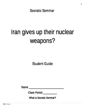 Socratic Seminar- Current Events (Iran)