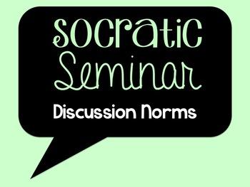 Socratic Seminar Discussion Norms