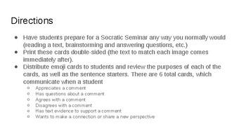 Socratic Seminar Emojis