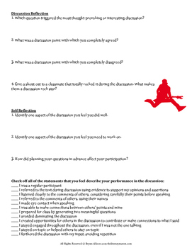Socratic Seminar/Fishbowl Discussion Planning, Tracker, & Reflection