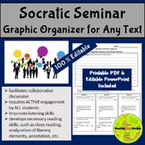 Socratic Seminar Graphic Organizer for ANY Text