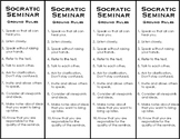 Socratic Seminar Ground Rules Bookmark
