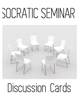 Socratic Seminar Sentence Frames/ Cue Cards / Group Discussion Cards