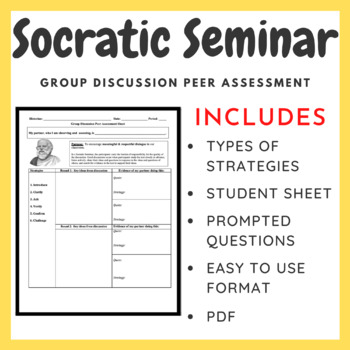 Socratic Seminar: Group Discussion Peer Assessment