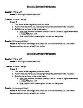 Socratic Seminar Instructions