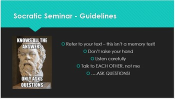 Socratic Seminar - Introduction PowerPoint