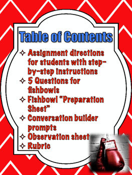 The Contender (Lipsyte) Socratic Seminar Lesson Plan and Materials