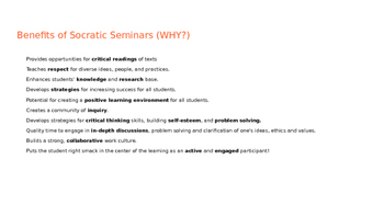 Socratic Seminar Overview (Powerpoint)