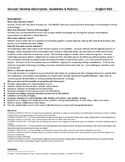 Socratic Seminar Overview and Rubrics