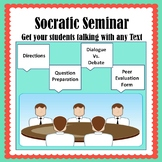 Socratic Seminar Pack--Peer Observation Form, Question Guide, Directions & More!
