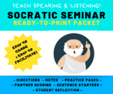 COMPLETE Socratic Seminar Packet: Speaking & Listening Activity