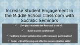 Socratic Seminar: Powerpoint with Teacher and Student Guidelines