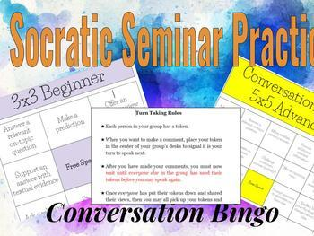 Socratic Seminar Practice (Speaking & Listening) Conversation Bingo Activity