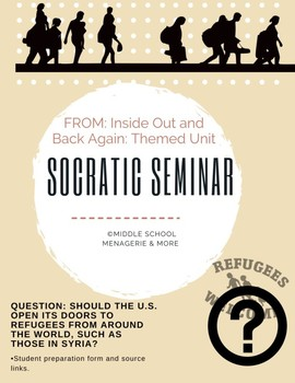 Socratic Seminar Prep Sheet: Should the U.S. allow the entry of refugees?