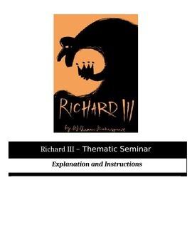 Socratic Seminar - Richard III - Common Core Aligned