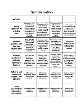 Socratic Seminar Rubrics 4th-7th Grade