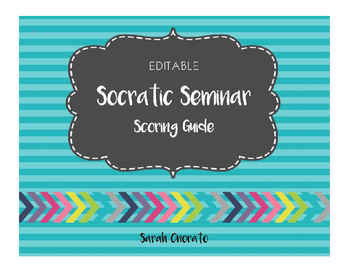Socratic Seminar Scoring Guide/ Rubric