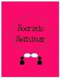 Socratic Seminar Support Sheets
