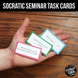 Socratic Seminar Task Cards: Discussion Sentence Starters {UPDATED}